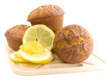 Muffiner med citronen Fotografering för Bildbyråer