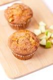 Muffiner med äpplet Royaltyfri Fotografi