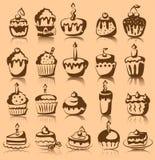 muffiner ställde in vektorn Arkivbild