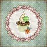 muffininbjudantemlate vektor illustrationer
