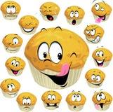 Muffinkarikatur Stockfotografie