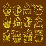 Muffinklottervektor Arkivbild