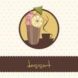 Muffinkort Royaltyfri Fotografi