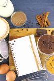 Muffinrezept Lizenzfreies Stockbild
