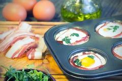 Muffins αυγών Στοκ φωτογραφία με δικαίωμα ελεύθερης χρήσης