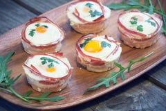 Muffins αυγών Στοκ Φωτογραφίες