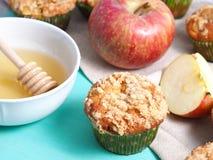 Muffins θίχουλων της Apple closeup Στοκ Φωτογραφίες