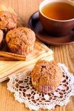 Muffins κανέλας της Apple Στοκ Εικόνες