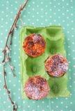 Muffins καρότων Στοκ Εικόνες