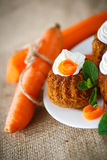 Muffins καρότων Στοκ Φωτογραφίες