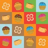 muffins κινούμενων σχεδίων Στοκ φωτογραφία με δικαίωμα ελεύθερης χρήσης