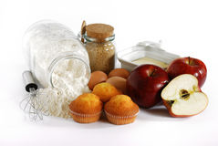 muffins μήλων στοκ εικόνες