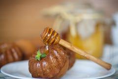 Muffins μελιού Στοκ Φωτογραφίες
