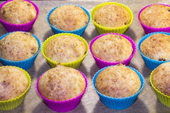 Muffins με το τυρί και τις σταφίδες Στοκ Εικόνες