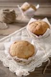 Muffins μπανανών με τη μαρμελάδα μπανανών Στοκ Εικόνα