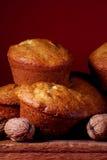 muffins ξύλο καρυδιάς Στοκ Φωτογραφία