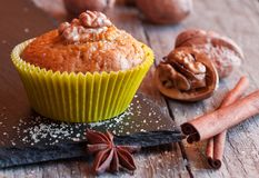 Muffins ξύλων καρυδιάς Στοκ εικόνες με δικαίωμα ελεύθερης χρήσης