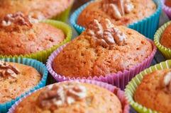 Muffins ξύλων καρυδιάς Στοκ φωτογραφίες με δικαίωμα ελεύθερης χρήσης