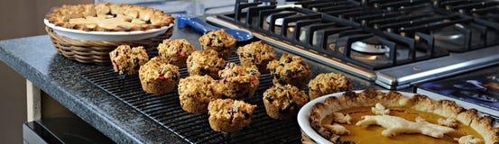 muffins πίτες Στοκ εικόνα με δικαίωμα ελεύθερης χρήσης