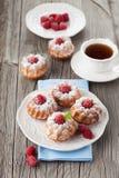 Muffins σμέουρων Στοκ εικόνες με δικαίωμα ελεύθερης χρήσης