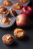 Muffins της Apple σε έναν κάτοχο Στοκ Φωτογραφίες