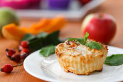 Muffins τυριών με την κολοκύθα Στοκ εικόνες με δικαίωμα ελεύθερης χρήσης