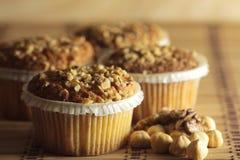 Muffins φουντουκιών Στοκ Εικόνες