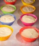 Muffins φλυτζάνια Στοκ Φωτογραφία