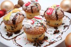muffins Χριστούγεννα Στοκ εικόνα με δικαίωμα ελεύθερης χρήσης