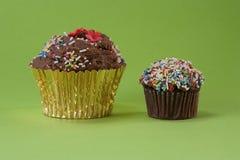 muffins δύο σοκολάτας Στοκ Φωτογραφίες