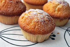 Muffins. Home baked muffins with raspberry jam Stock Images
