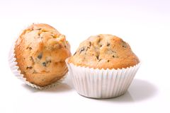 Muffins. Two muffins on white background Stock Image