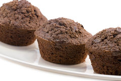 Muffins. A photo of some chocolate muffins cake stock photography
