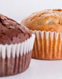 Muffins. Golden and brown muffins close-up Stock Photo