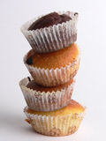 Muffins. A group of classic chocolate muffins Stock Photo