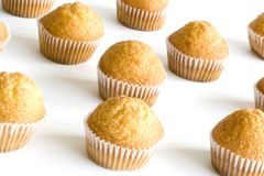 Muffins. Several Muffins in her sulphurized paper Royalty Free Stock Image