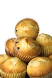 Muffins. A pile of muffins isolated against a white background Royalty Free Stock Photography