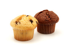 Muffins. Homemade muffins on a white background Royalty Free Stock Photography