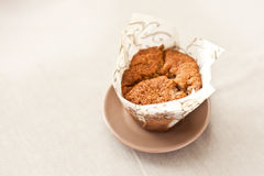 Muffins. Isolated fresh homemade cereal muffin Stock Image
