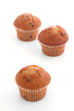 Muffins 2. Three Muffins over White Royalty Free Stock Photography
