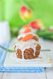 Muffins. Carrot muffins with sugar carrot Stock Images