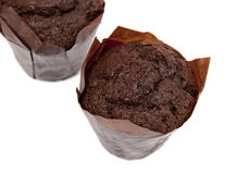 Muffins. Delicious muffins isolated on the white background Royalty Free Stock Photos