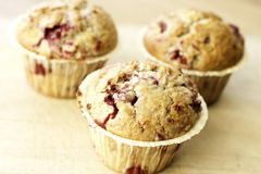 Muffins. Delicious Raspberry and Coconut Muffins Stock Photo