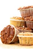 Muffins. Stack of delicious muffins - food and drink royalty free stock photos