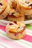 Muffins with almond Stock Photo