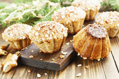 Muffins with almond Royalty Free Stock Photos
