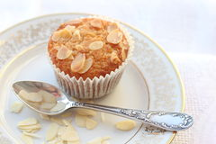 Muffins with almonds Royalty Free Stock Photos