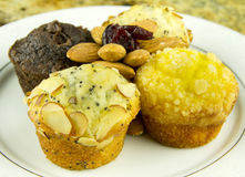 Muffins With Almonds Royalty Free Stock Photo