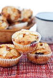 Muffins with almonds and cherries Royalty Free Stock Image