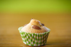 Muffins with almonds and dried apricots Royalty Free Stock Photos
